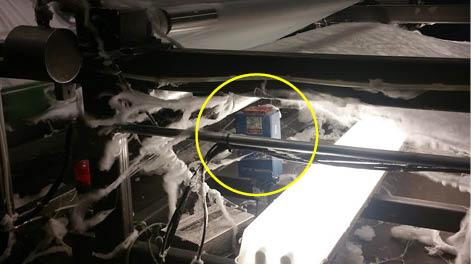 InteliSENS SL sensor on Monadnock's non-woven lines
